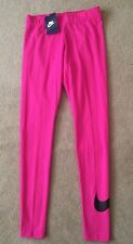 Womens Nike Swoosh Leggings Pants Capri Casual Yoga GYM Pink  Running RRP £34.99