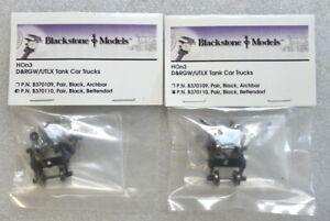 HOn3 - 2 sets Blackstone Models D&RGW UTLX Tank Car Trucks, Bettendorf