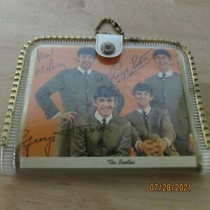 Beatles Vinyl Wallet with a Photos on each side