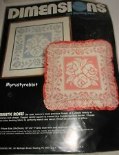 Romantic Roses Victorian Net Darning Lace Kit - White - Dimensions #4807
