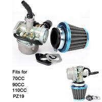 70CC 90CC 110CC PZ19 Carb Carburateur Avec Choke câble Filtre à air pour VTT