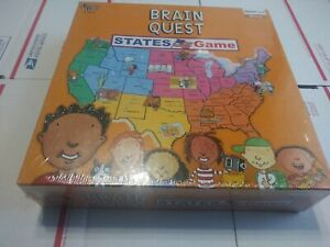 """Factory Sealed """"Brain Quest: States Game"""" Geography/History Game For Grades 3-6"""