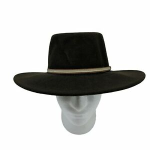 Stetson Cowboy Hat Mens Size M Brown 100% Wool Crushable Water Repellant Western