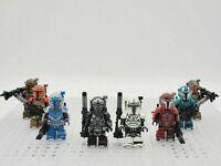 Star Wars Heavy Infantry Mandaloria Minifigures Set of 8 Army Boba Fett Bo Katan