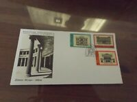 greece first day stamp cover 1977 architecture II
