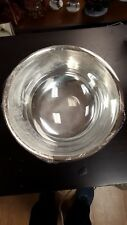 Vintage Gorham E.P. YC784 YH1 Silver Bowl Serving Used Kitchen w/ clear insert