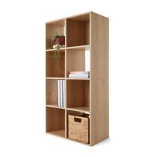 Natural 8 Cube Unit Book Shelf Case Oak Look Display Storage Living Room Office