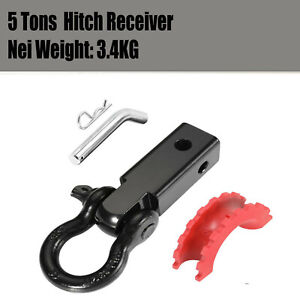 Recovery Hitch Receiver Bonus Bow Shackle Tow Bar Aluminum 4.75T Off Road 4X4