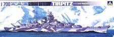 Aoshima 1:700 Water Line Series German Battleship Tirpitz Plastic Kit #WLB103U