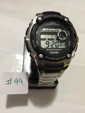 Casio WV-200DA-1A Digital Atomic Waveceptor Watch 200M WR World Time **USED#99**