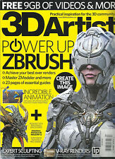 3D ARTIST MAGAZINE, ISSUE  NO. 93 ( SORRY FREE 9GB OF VIDEOS & MORE ARE MISSING