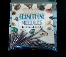 NEW BRITISH-MADE GRAMOPHONE NEEDLES IN MEDIUM TONE, PACKETS OF 100 - TOP QUALITY