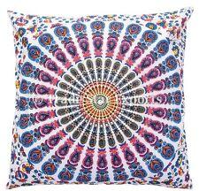 "Indian Mandala Tapestry Pillow Cover 16X16""Cotton Decorative Boho Throw Cushions"