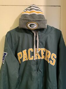 Green Bay Packers Vest,Hoodie With The Hat Combo.