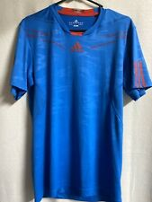 adidas Barricade Climacool T Shirt Soccer Tennis Volleyball Size Small Blue