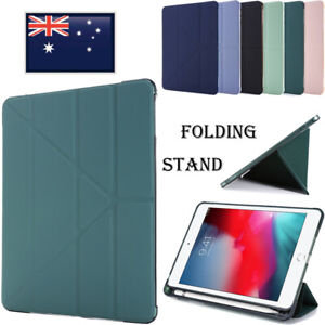 For iPad 6th 7th 8th Gen Air Pro Mini 4 5 Case Leather Folding Smart Sleep Cover