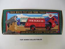 Texaco 1949 White Tilt Cab Tank Truck Coin Bank  #13  New In Box   Stock #F950