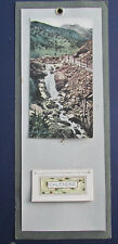 Antique 1921 Wall Calendar, tree & mountain background, 10 by 4 inches