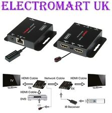 HDMI OVER A SINGLE CAT5E 6 7 CABLE INFRA RED CHANNEL CHANGE EXTENDER KIT 60M