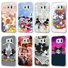 Mickey Minnie Mouse Disney Christmas WHITE PHONE CASE COVER for SAMSUNG GALAXY