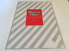 MERRY TILLER Cultivators Atco (Wolseley) Original 1990 Vintage Sales Brochure