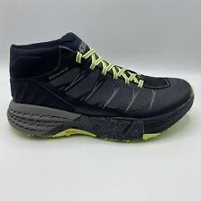 Men's Hoka One  Speedgoat MID WP size 10 Black/Steel Grey 1093760-BSLG Worn Once