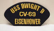 2 USS Dwight D Eisenhower CV-69 Patches Ship Boat