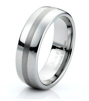 Tungsten Carbide Mens Wedding Band Ring  Classic Anniversary Eternity Ring 7mm