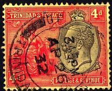 TRINITÉ ET TOBAGO-George  V - Filigrane CA multiple