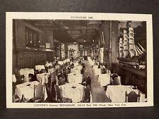 New listing NY - Luchow's restaurant New York City - Postcard