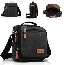 Canvas Messenger Bag Small Travel School Shoulder Crossbody Handbag Men Gift New