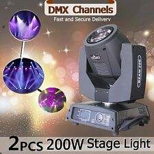 2pcs 200W Moving head LED Beam DMX 512 Spot Stage Lights American DJ 16CH Party