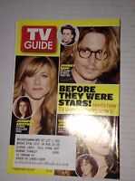 Tv Guide Magazine Johnny Depp Jennifer Aniston February 21-27 2004 021417RH