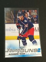 F60294  2019-20 Upper Deck #225 Alexandre Texier YG RC YOUNG GUNS BLUE JACKETS