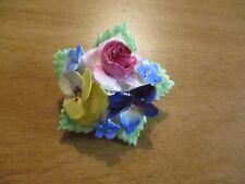 VINTAGE STAFFORDSHIRE   FLOWER BOUQUET  PIN/BROOCH