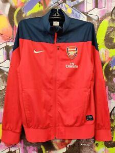 Arsenal FC Gunners Football Soccer Jacket Longsleeve Jersey Nike Mens Size M