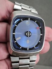Vtg ZODIAC ASTROGRAPHIC Mystery Dial AUTOMATIC Men's WATCH SST Date MCM -Working