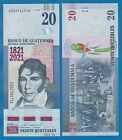 Guatemala 20 Quetzales P New 2021 UNC Commemorative 200 Years Independence