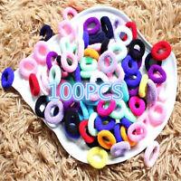 100PCS Women Girls Colorful Elastic Rope Ring Hairband Ponytail Holder Hair Band