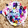 100PCS Colorful Ponytail Holder Hair Band Elastic Rope Ring Hairband Women Girls
