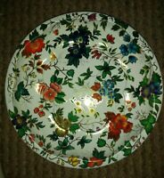 "DAHER DECORATED WARE  Floral Tin 10"" Serving Bowl - England -  1971"