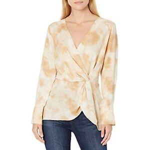 Vince Camuto Women's V-Neck Long Sleeve Blouse (Light Stone, S)