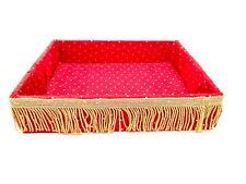Red gold wedding tray basket for nikah shaadi walima bidh handmade