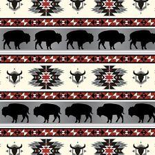 Buffalo Tribal Polar Fleece Fabric by David Textiles by the yard