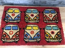 Retro VW CamperVan design style Doormat RED New With Tags Gift