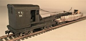 HO Scale MOW Maintenance of Way Clam Shell Steam Shovel & Tender