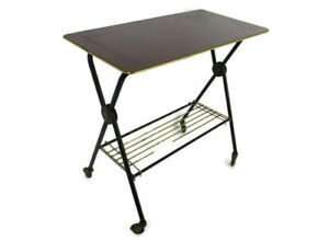 Retro Television Stand Kitchen Island Cart  Space Age Pop Art Funky Atomic
