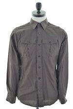 G-STAR Mens Shirt Medium Brown Cotton