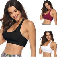 Women Sports Bra Gym Yoga Fitness Workout Crop Tops Tank Vest Soft Bra Tank Tops