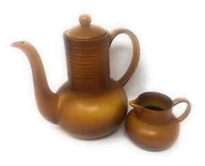 Vintage Art Deco Myott Coffee/chocolate Pot & Jug, No 522, Stoneware, England